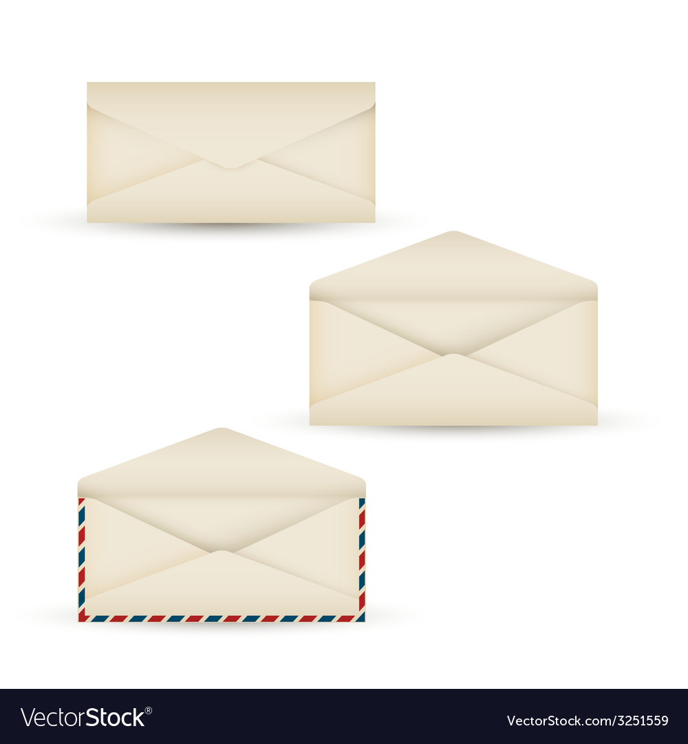 Open vintage long envelope vector | Price: 1 Credit (USD $1)