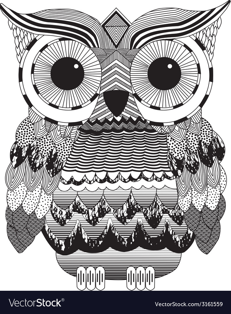 Owl print gothic fashion trend black white vector | Price: 1 Credit (USD $1)