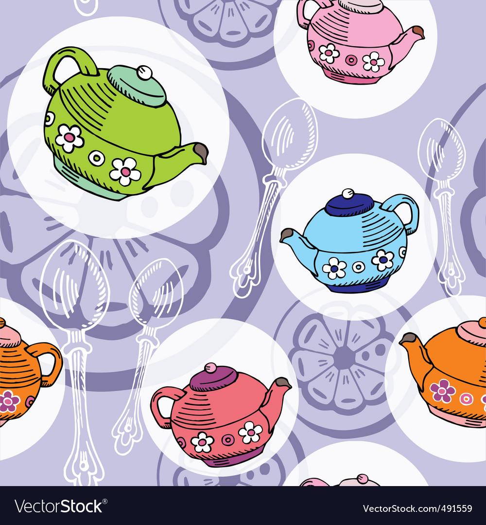 Teapot pattern vector | Price: 1 Credit (USD $1)