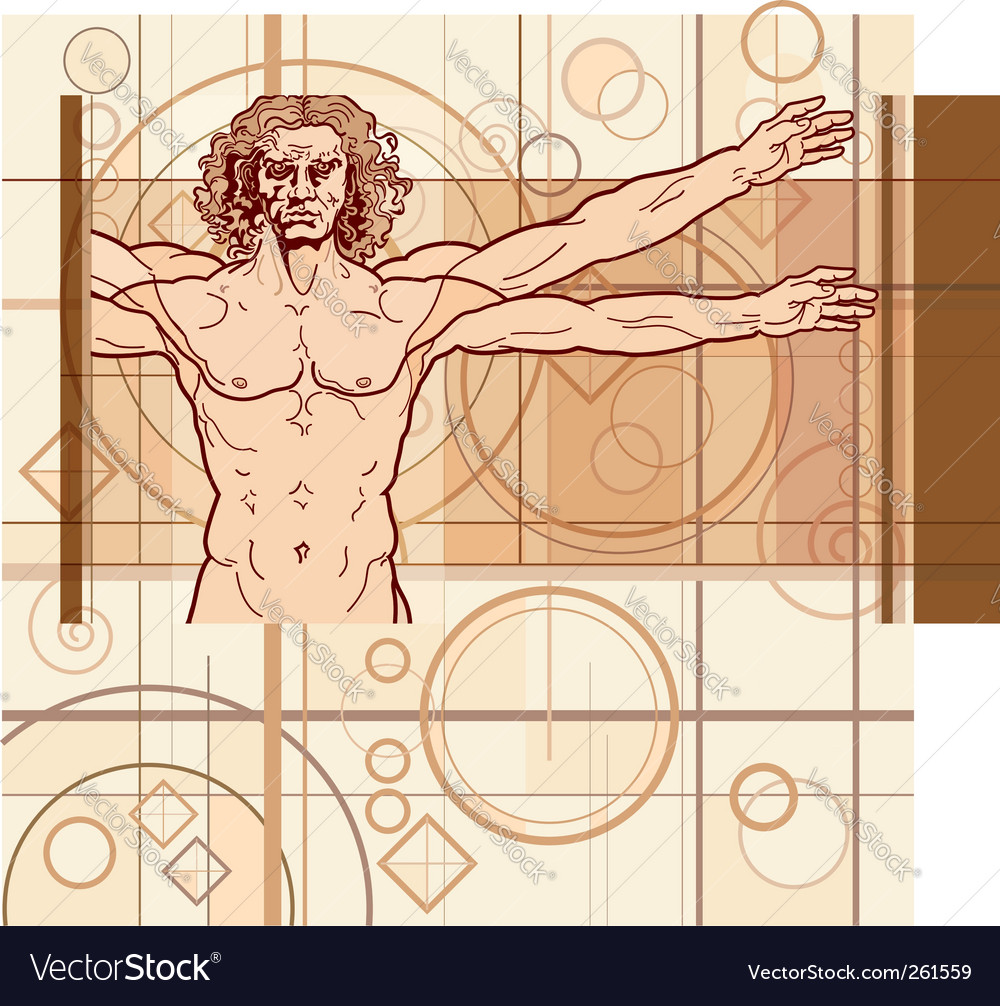Vitruvian man fragment vector | Price: 1 Credit (USD $1)