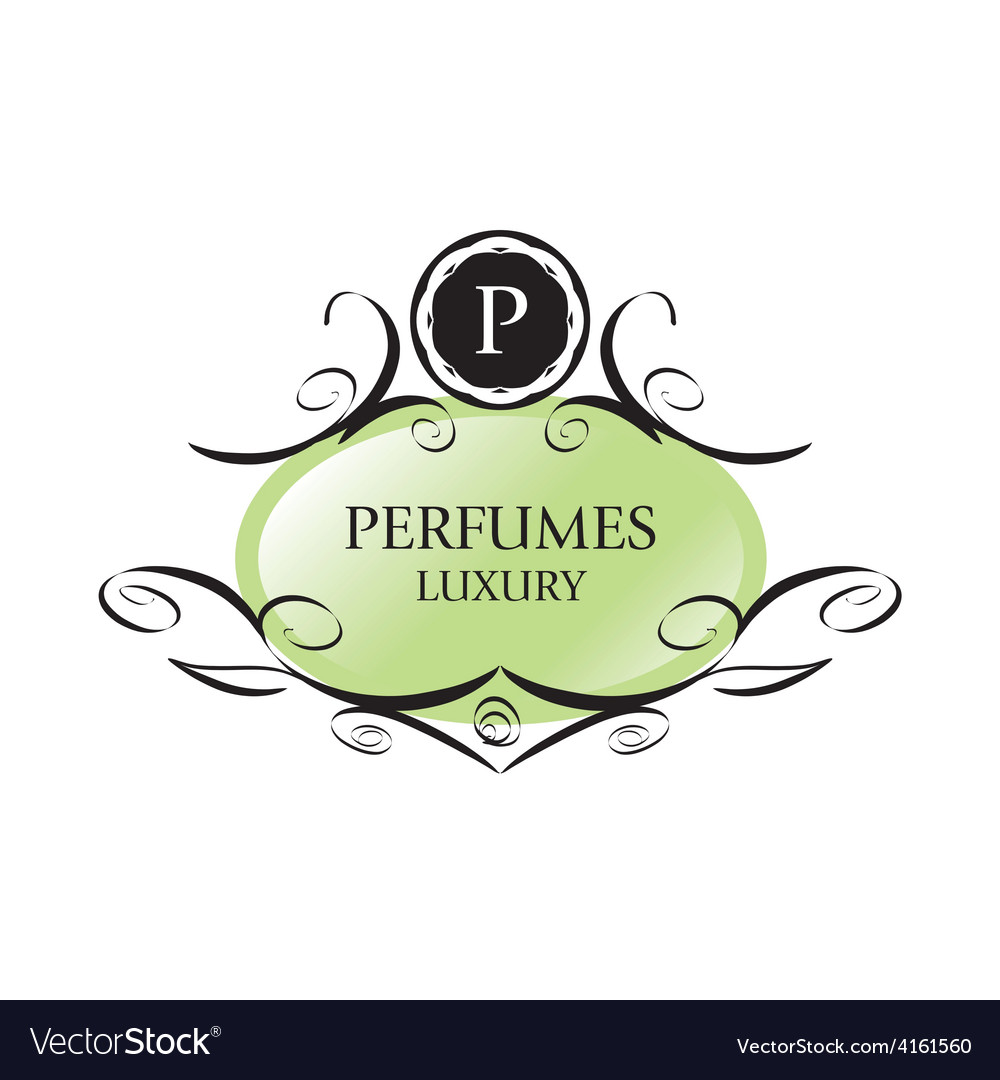 Abstract green logo for perfumes vector | Price: 1 Credit (USD $1)