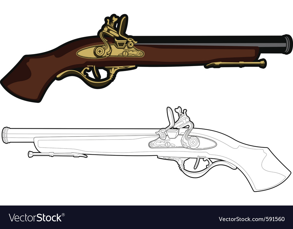 Antique musket vector | Price: 1 Credit (USD $1)