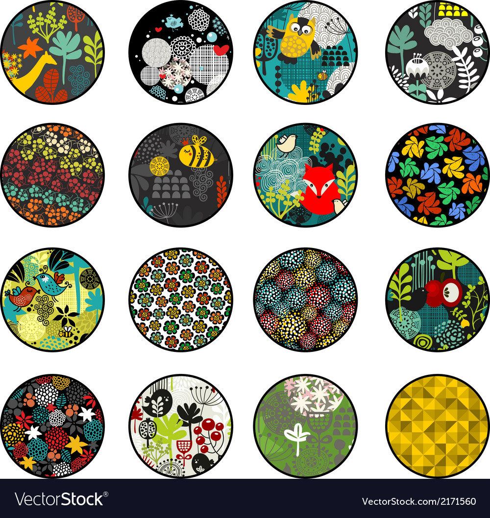 Big set of balls with print patterns vector | Price: 1 Credit (USD $1)