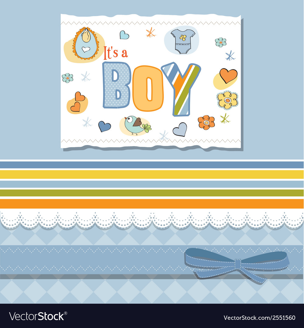 Birthday card with boy vector | Price: 1 Credit (USD $1)