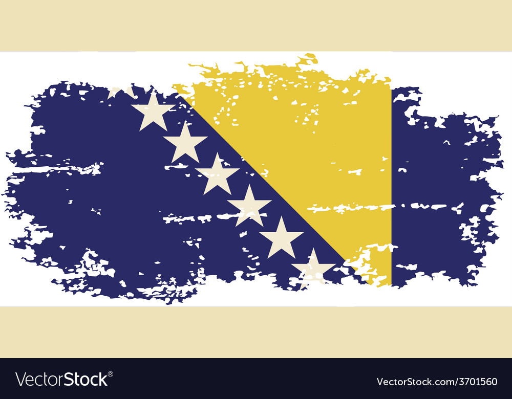 Bosnia and herzegovina grunge flag vector | Price: 1 Credit (USD $1)