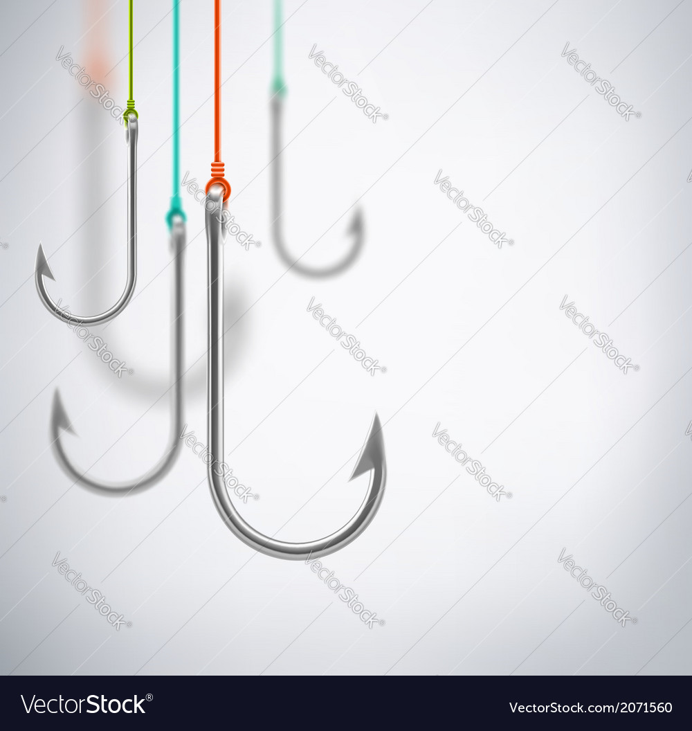Hooks concept background vector | Price: 1 Credit (USD $1)