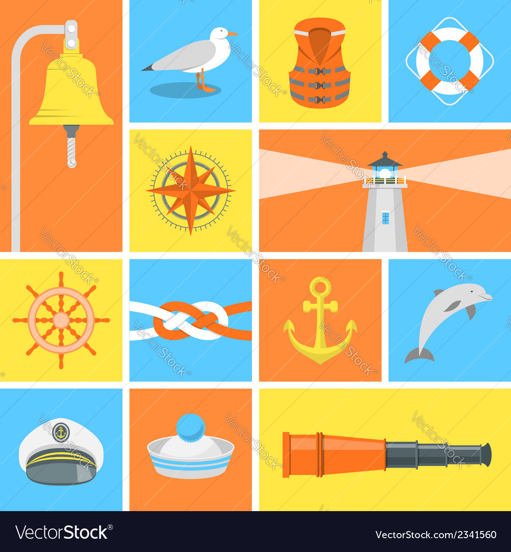 Nautical icons vector | Price: 1 Credit (USD $1)