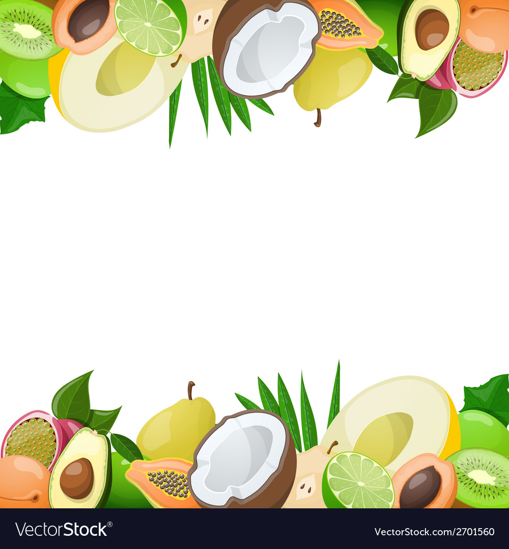 Two borders made of delicious ripe fruit vector | Price: 1 Credit (USD $1)