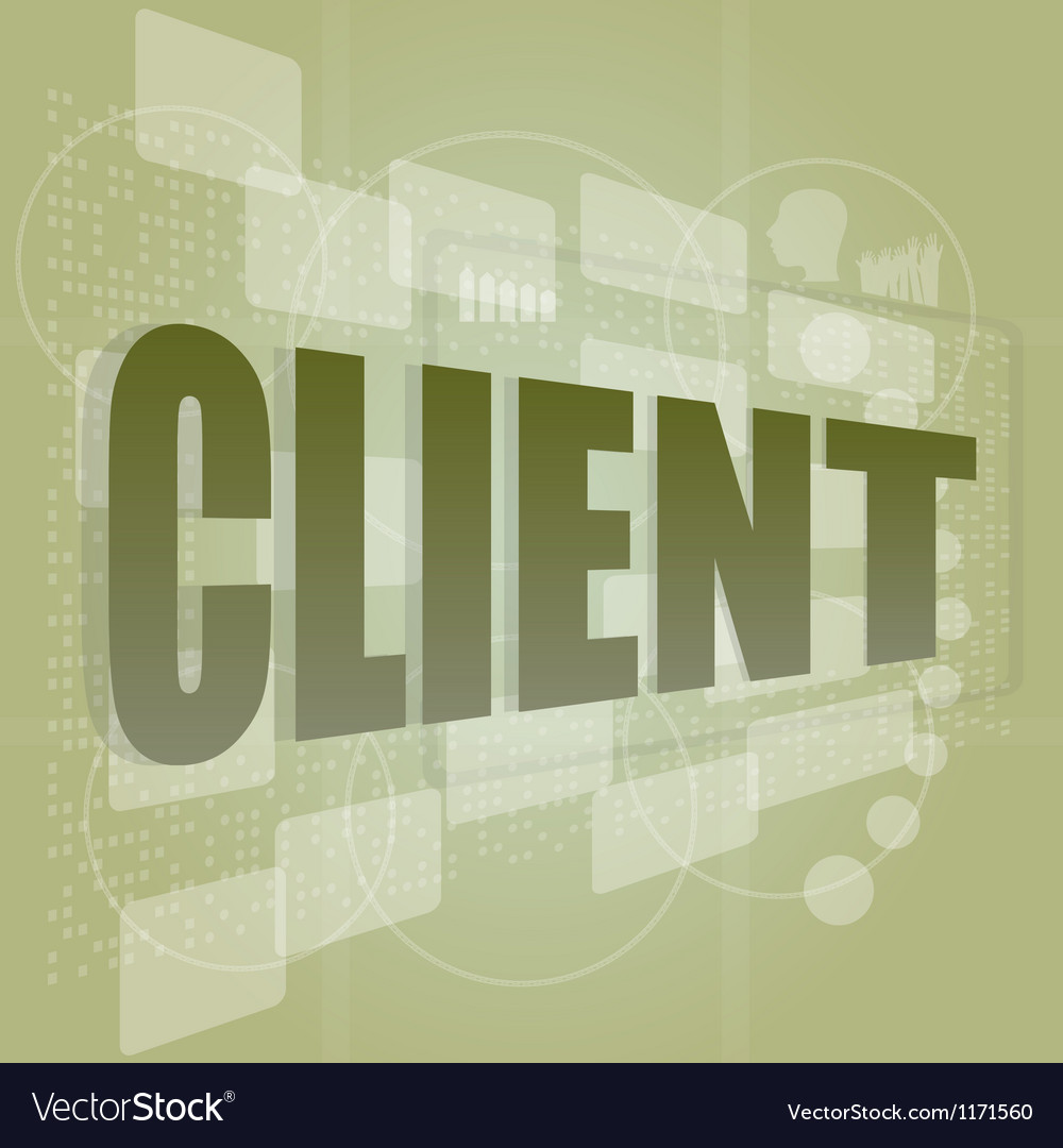 Word client on digital screen business concept vector | Price: 1 Credit (USD $1)
