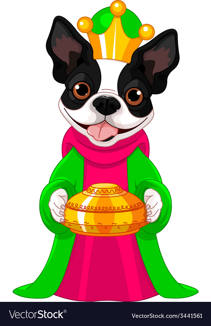 The boston terrier as a biblical magi vector | Price: 3 Credit (USD $3)