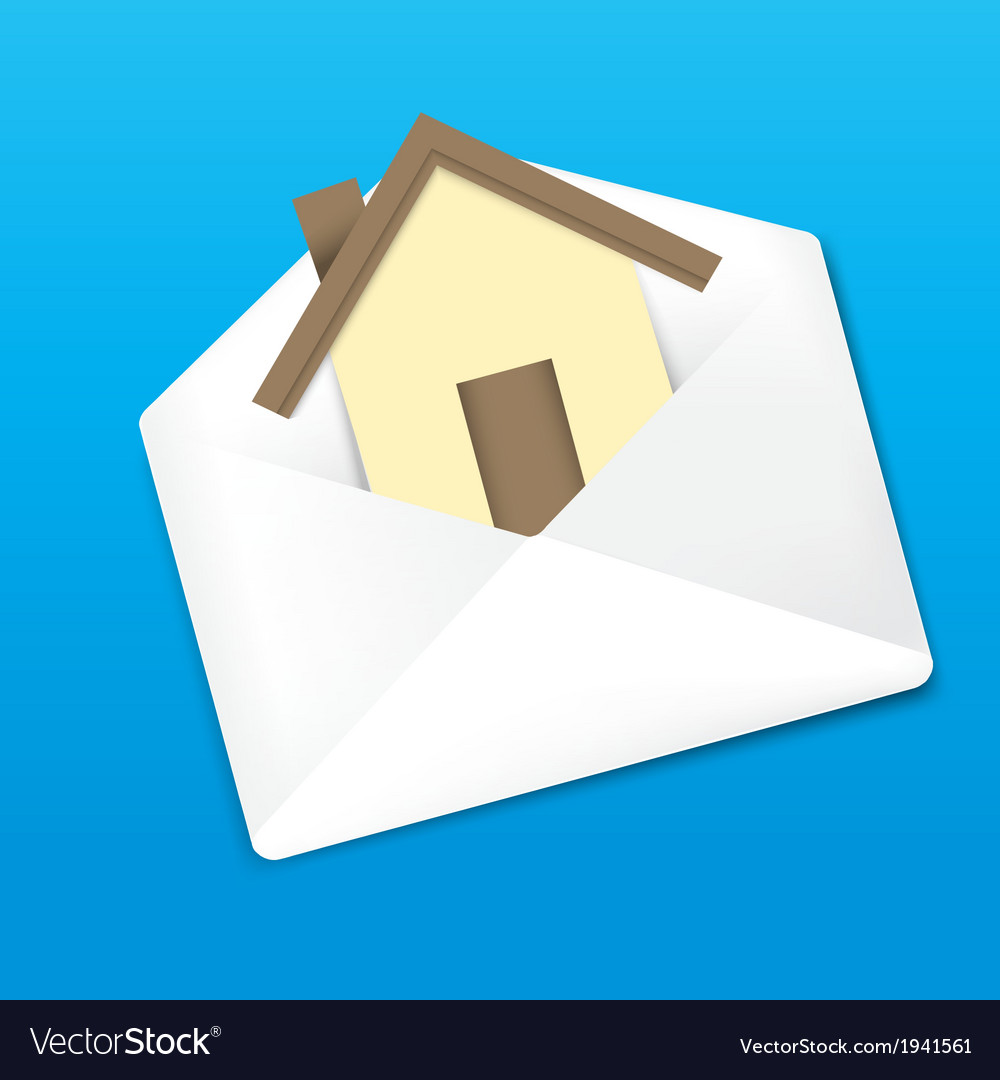 Envelope and home vector | Price: 1 Credit (USD $1)