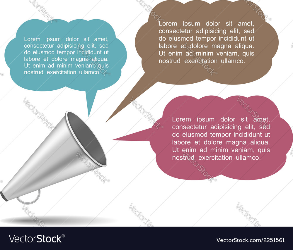 Megaphone with speech bubbles vector | Price: 1 Credit (USD $1)