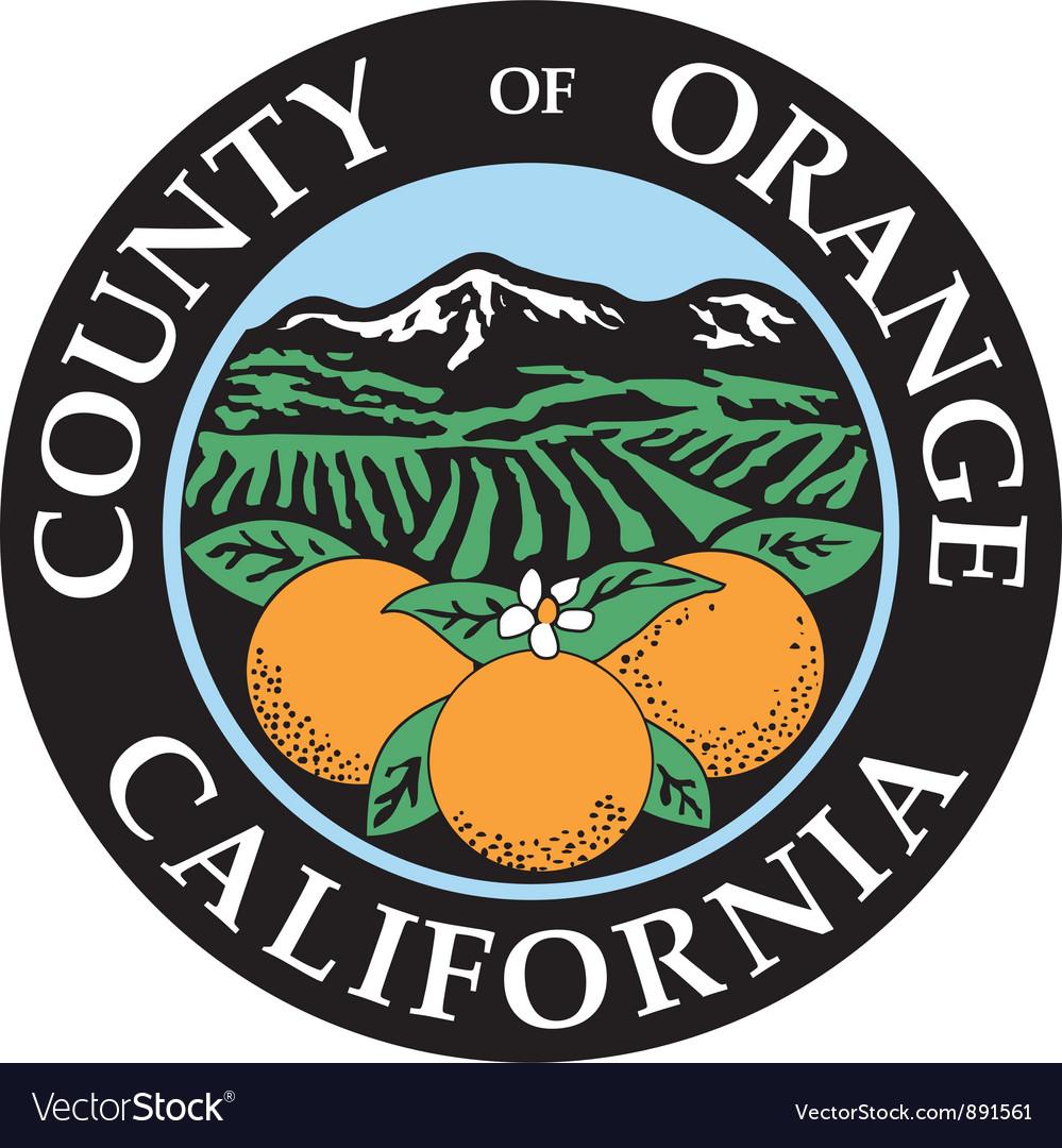 Orange county seal vector | Price: 1 Credit (USD $1)