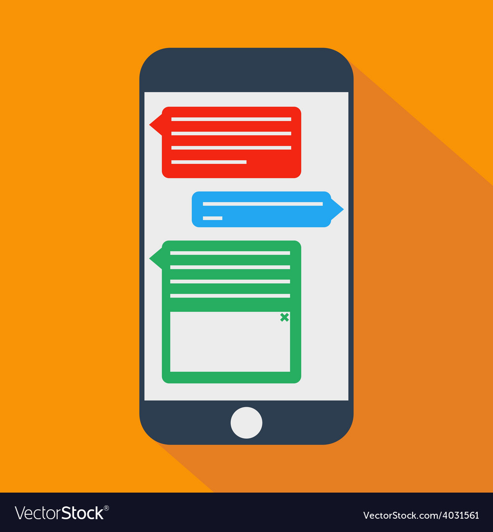Phone messages shadow flat vector | Price: 1 Credit (USD $1)