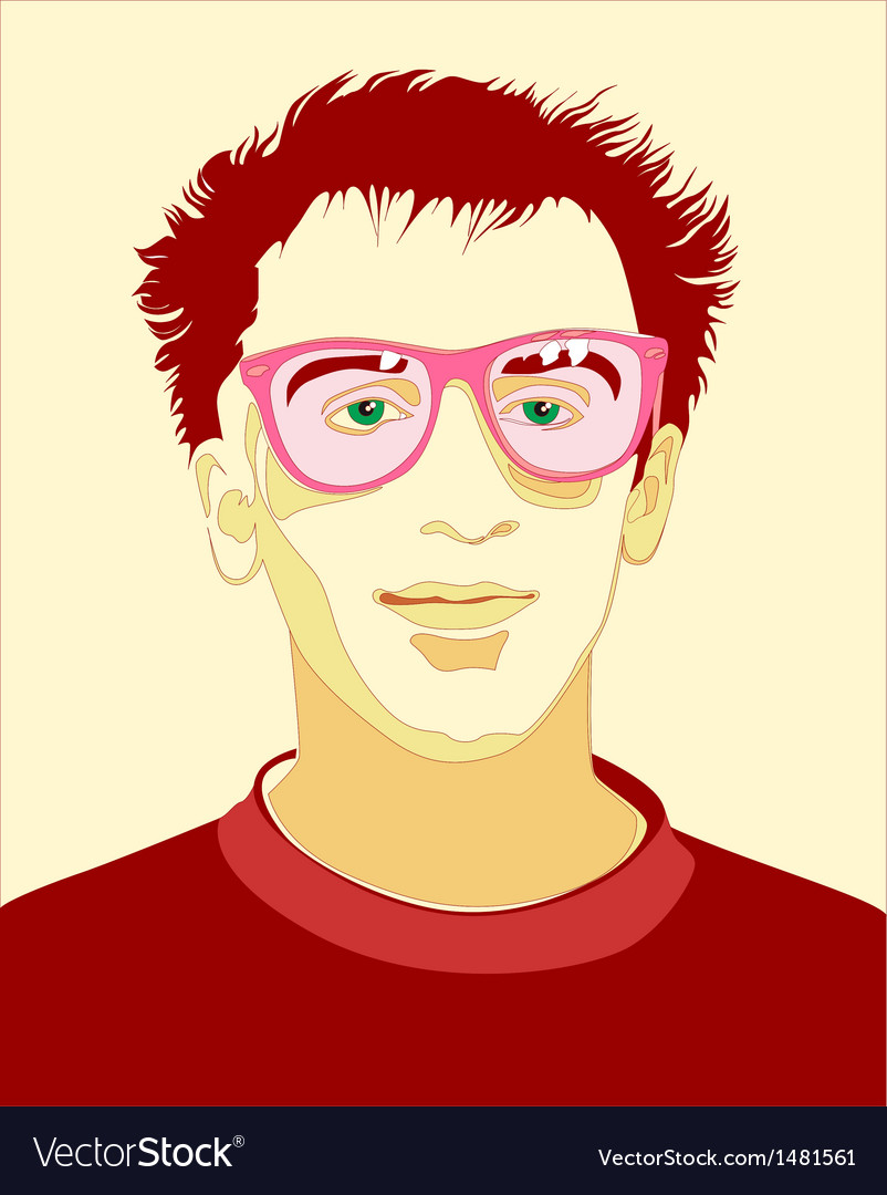 Portrait  guy vector | Price: 1 Credit (USD $1)