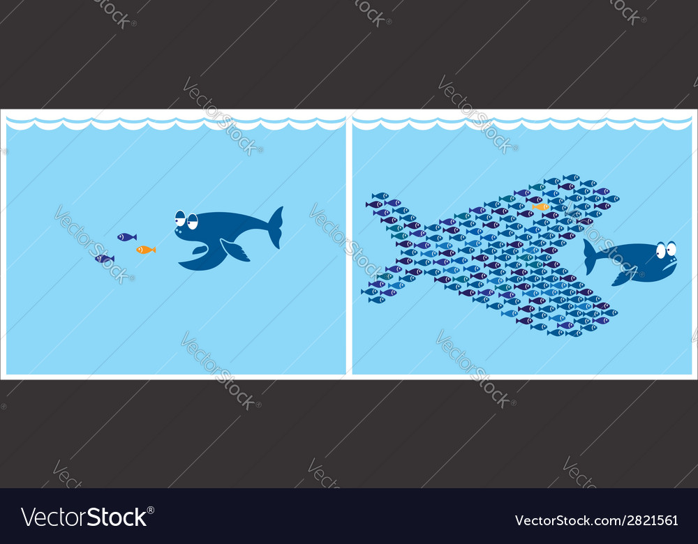 Small fish vector | Price: 1 Credit (USD $1)