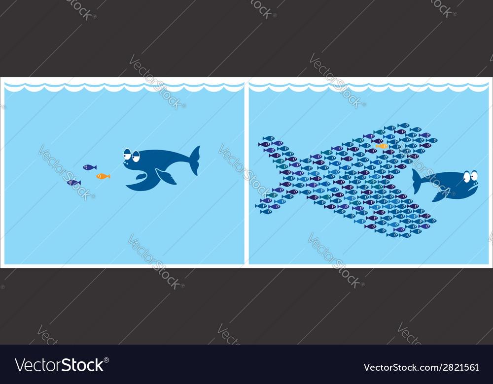 Small fish vector | Price: 1 Credit (USD $1)