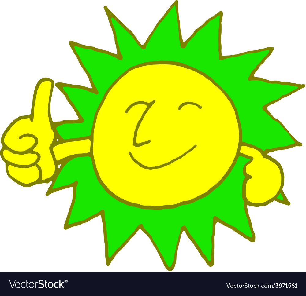 Sun smile with color vector | Price: 1 Credit (USD $1)