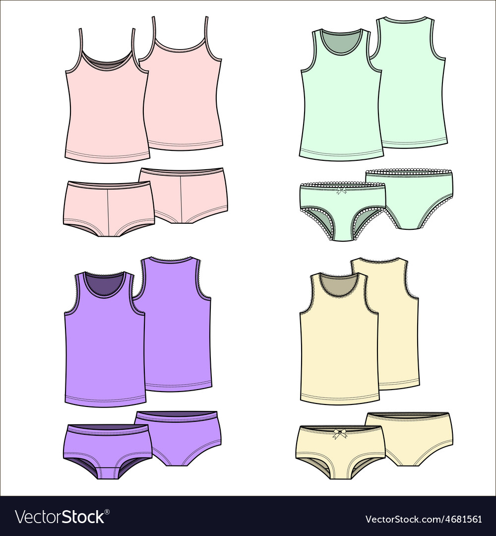 T-shirts and underwear color vector   Price: 1 Credit (USD $1)
