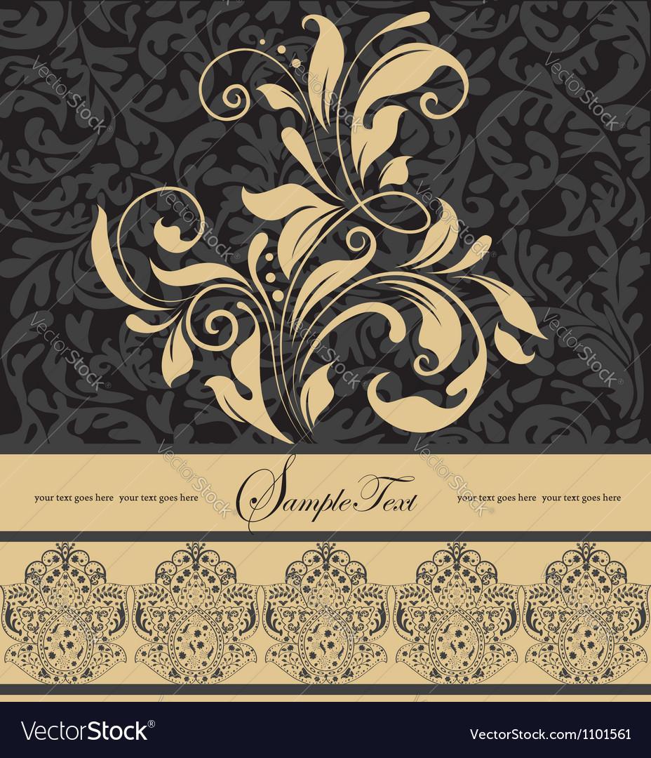 Vintage floral background vector | Price: 1 Credit (USD $1)