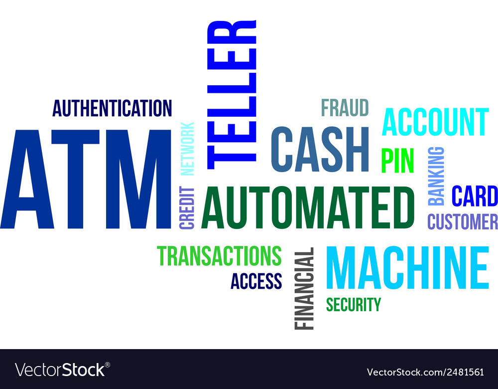 Word cloud atm vector | Price: 1 Credit (USD $1)