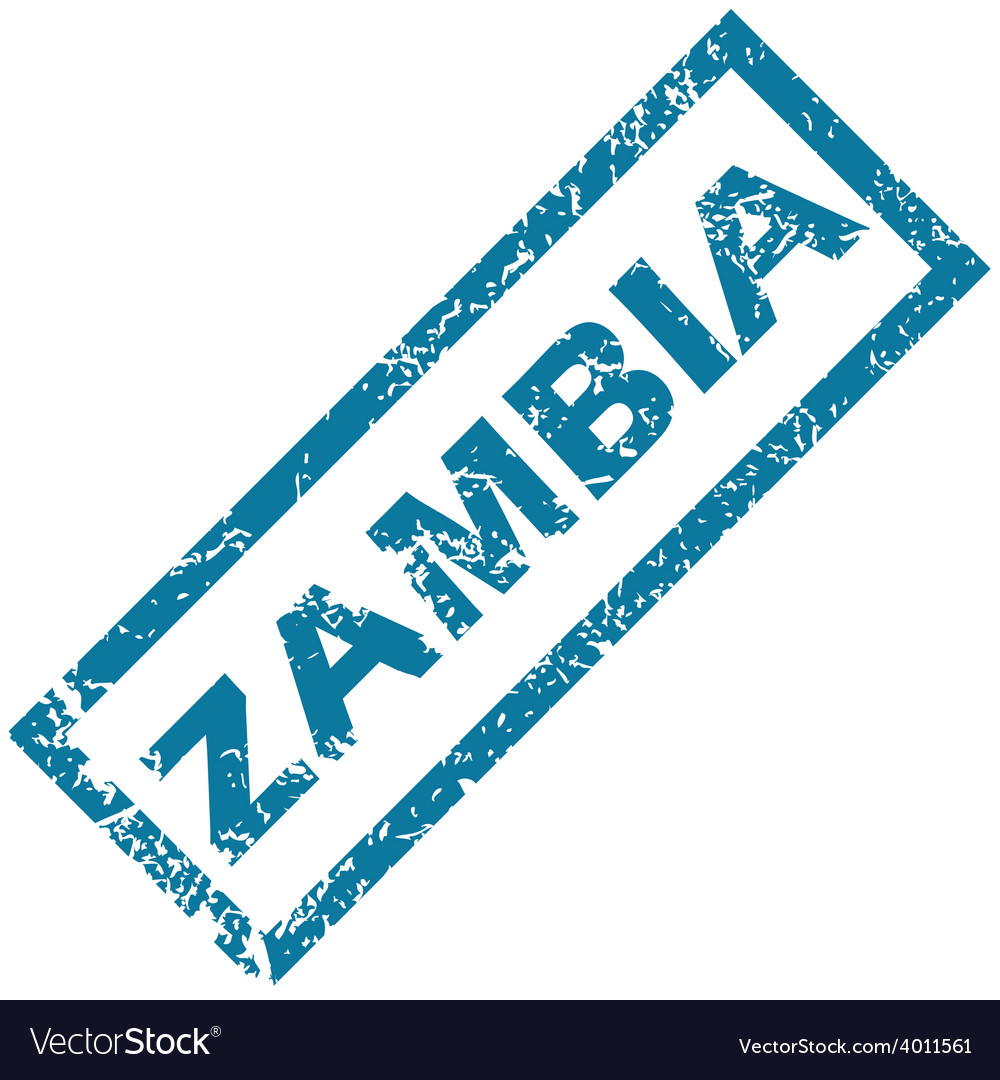 Zambia rubber stamp vector | Price: 1 Credit (USD $1)