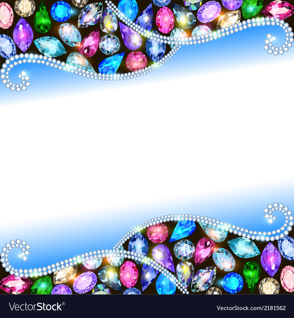 Background with precious stones vector | Price: 1 Credit (USD $1)