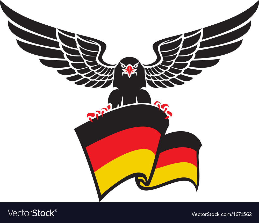 Black eagle with the german flag vector | Price: 1 Credit (USD $1)