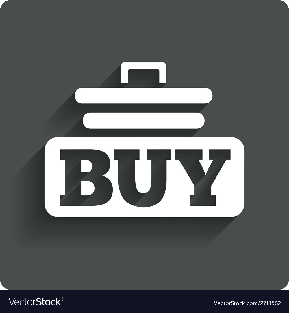 Buy sign icon online buying cart button vector | Price: 1 Credit (USD $1)