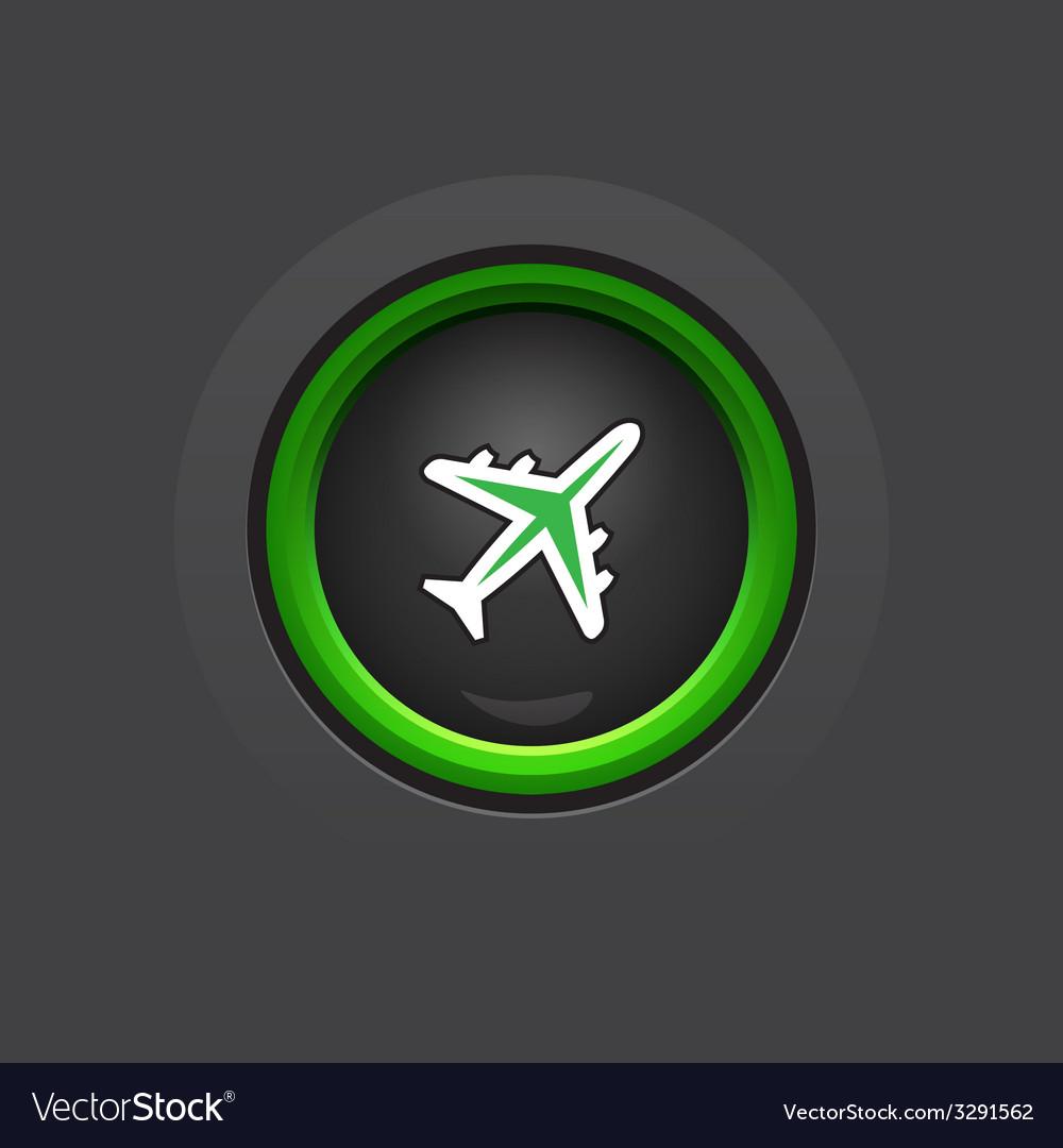 Dark circle glossy phone button vector | Price: 1 Credit (USD $1)