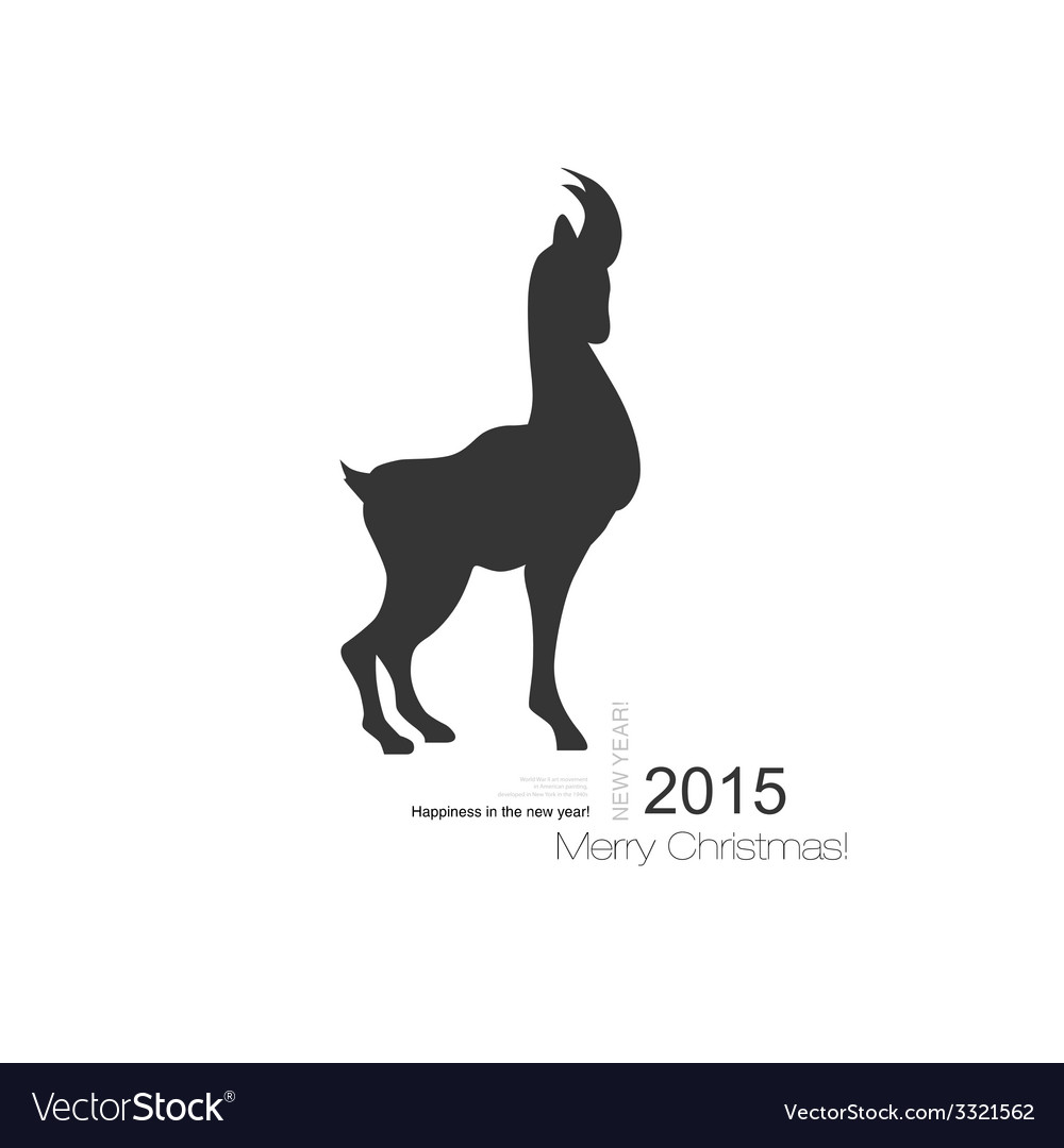 Goat symbol with black profile silhouette of a vector   Price: 1 Credit (USD $1)