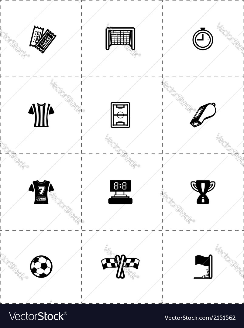 Icon soccer vector | Price: 1 Credit (USD $1)