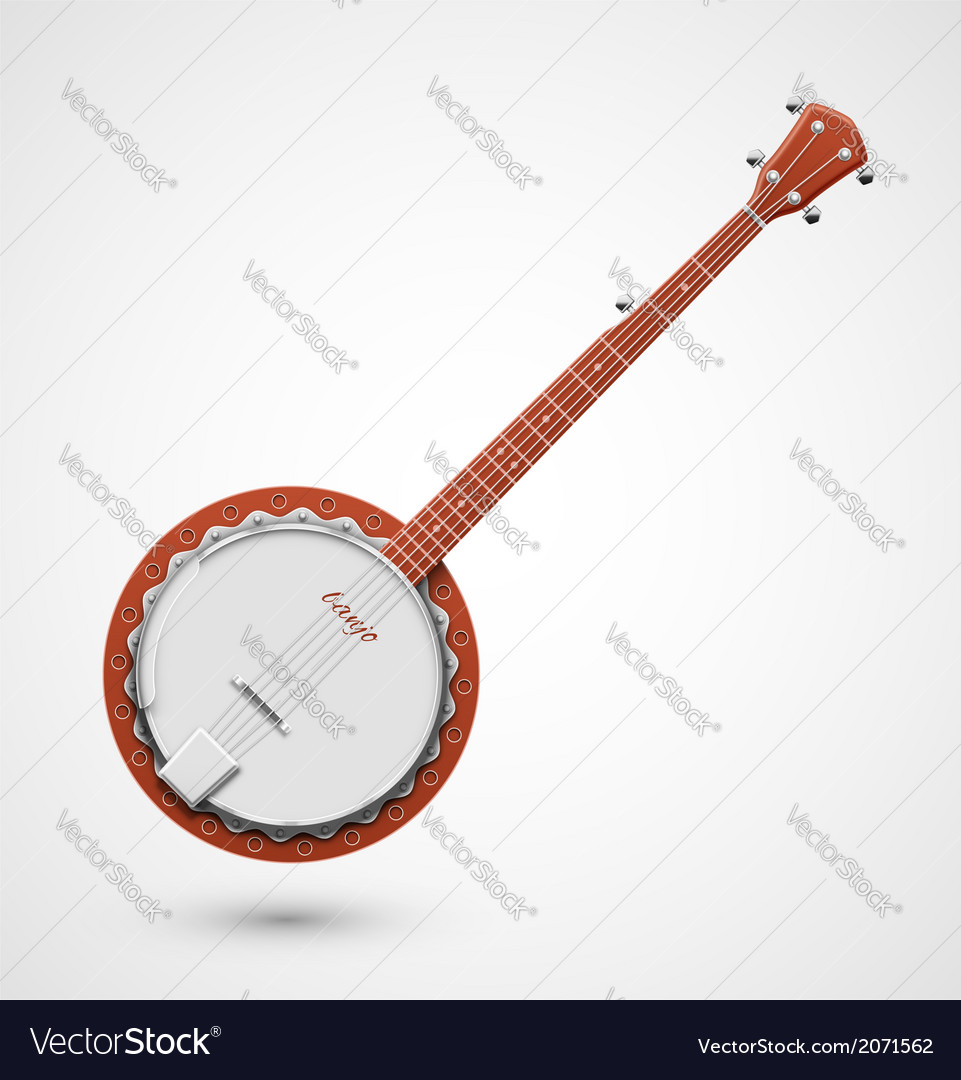 Isolated banjo vector | Price: 1 Credit (USD $1)