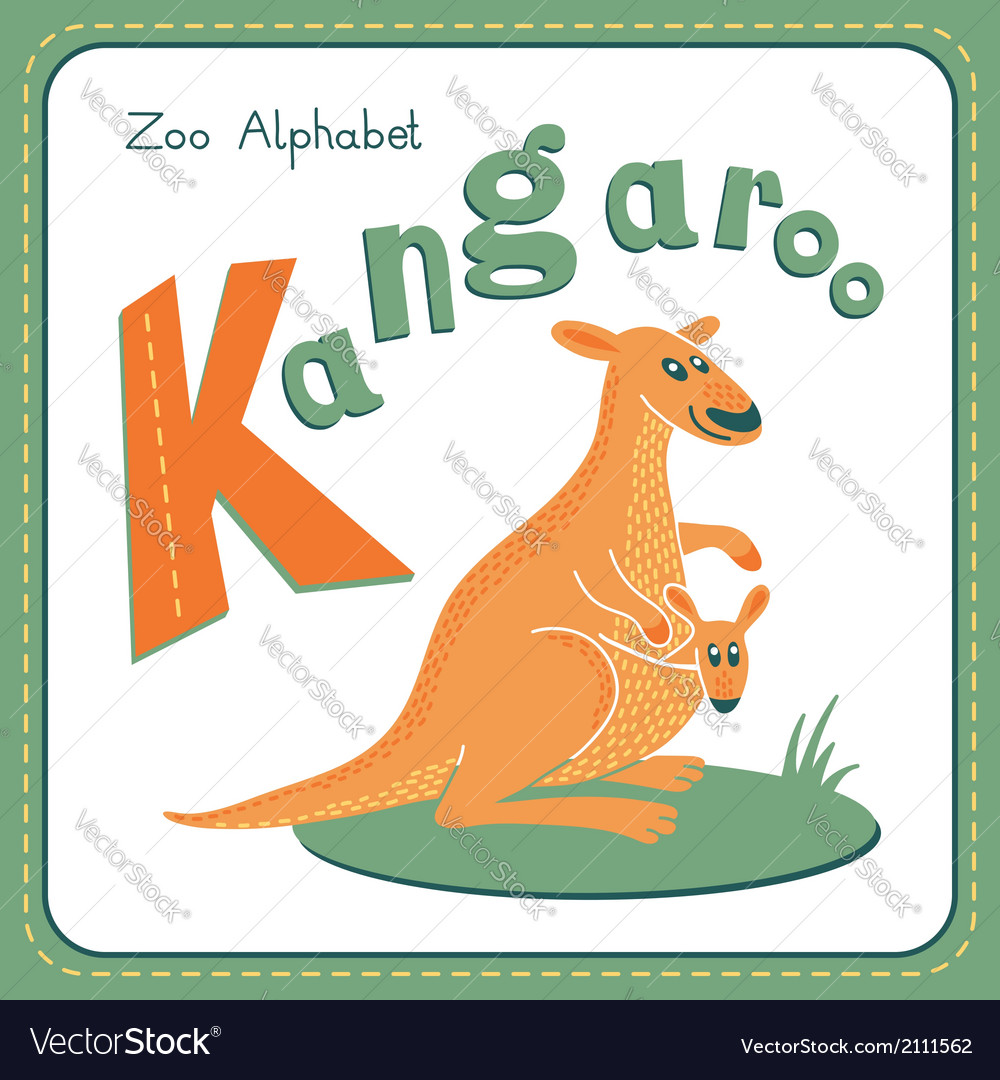 Letter k - kangaroo vector | Price: 1 Credit (USD $1)