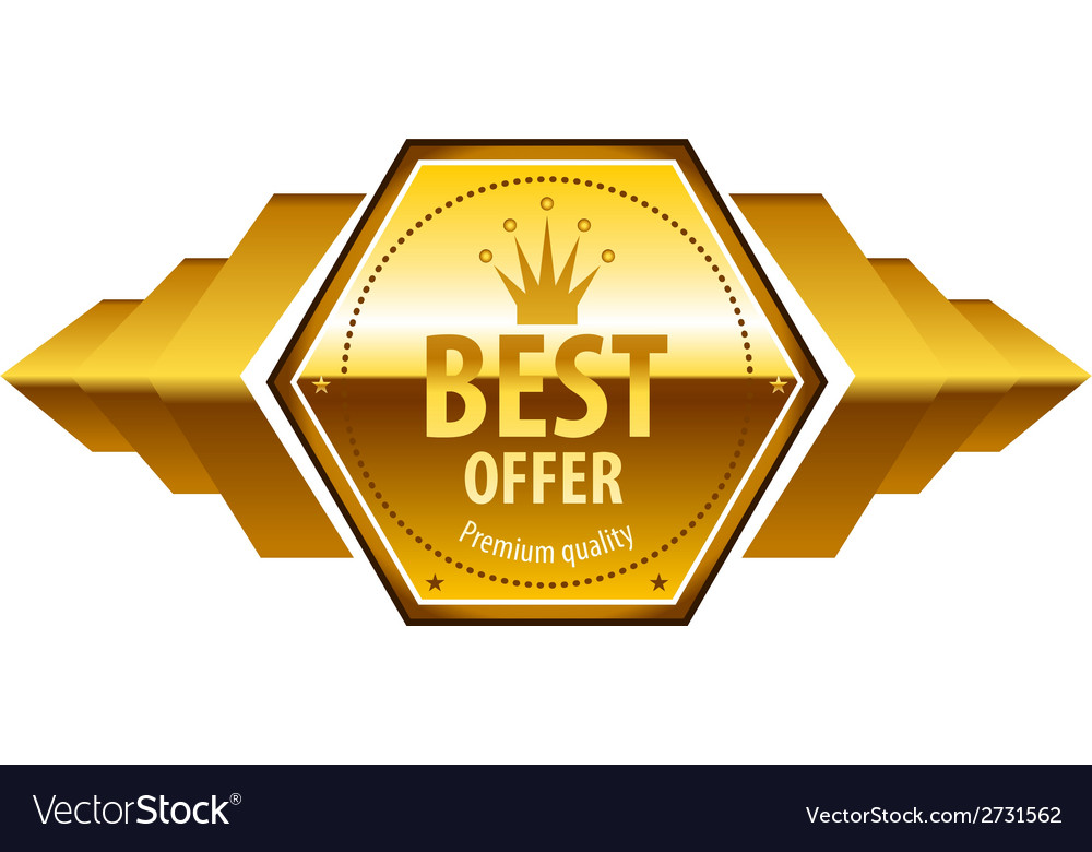Luxury golden premium quality best choice labels vector | Price: 1 Credit (USD $1)