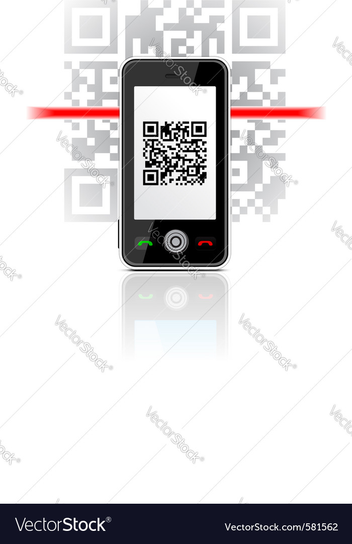 Qr code phone vector | Price: 1 Credit (USD $1)
