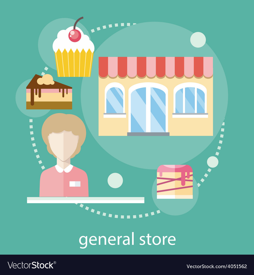 Sweet store concept vector | Price: 1 Credit (USD $1)
