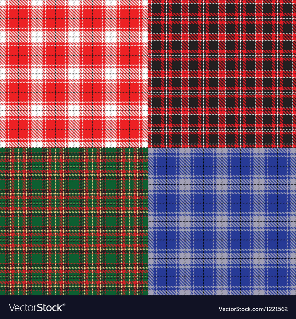 Tartan set vector | Price: 1 Credit (USD $1)