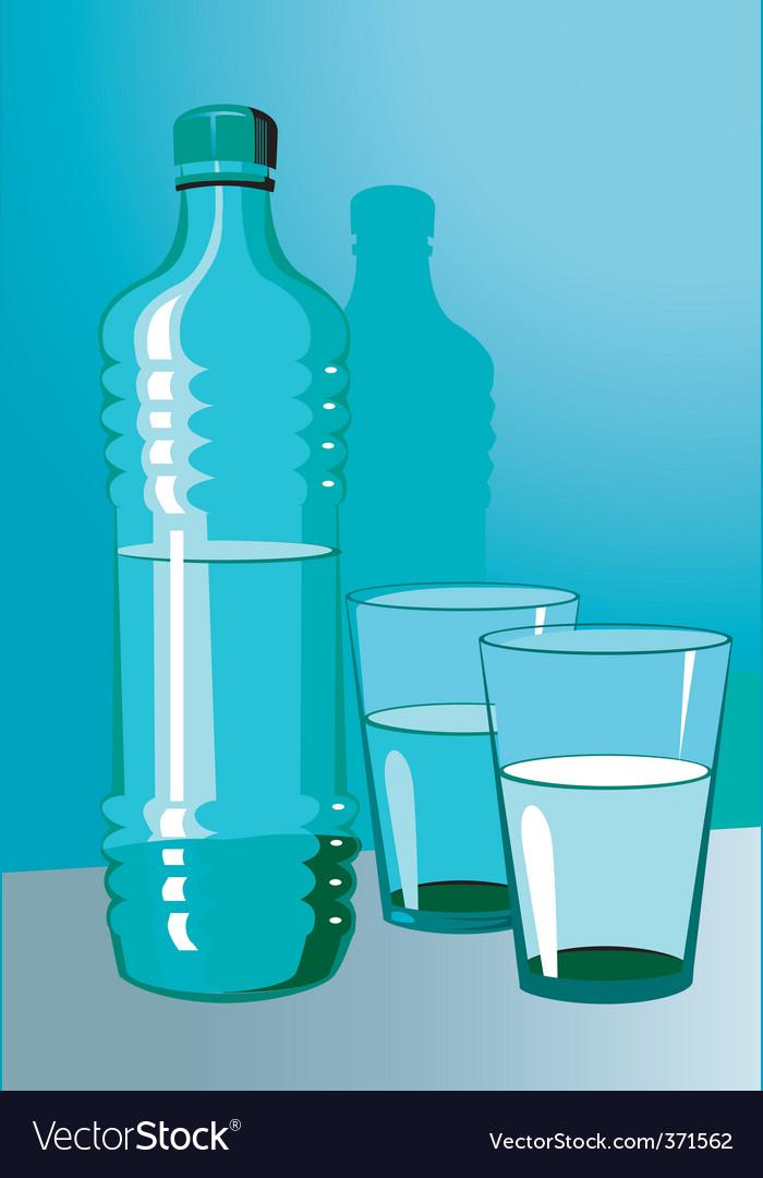 Water bottle vector | Price: 1 Credit (USD $1)