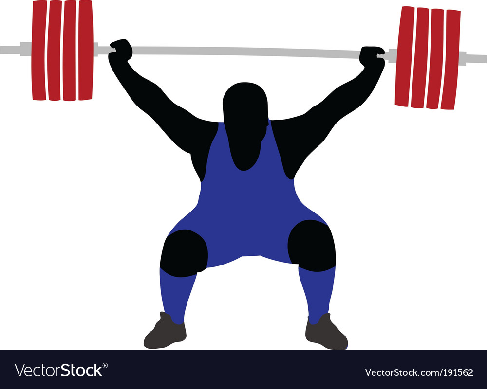Weightlifting vector | Price: 1 Credit (USD $1)