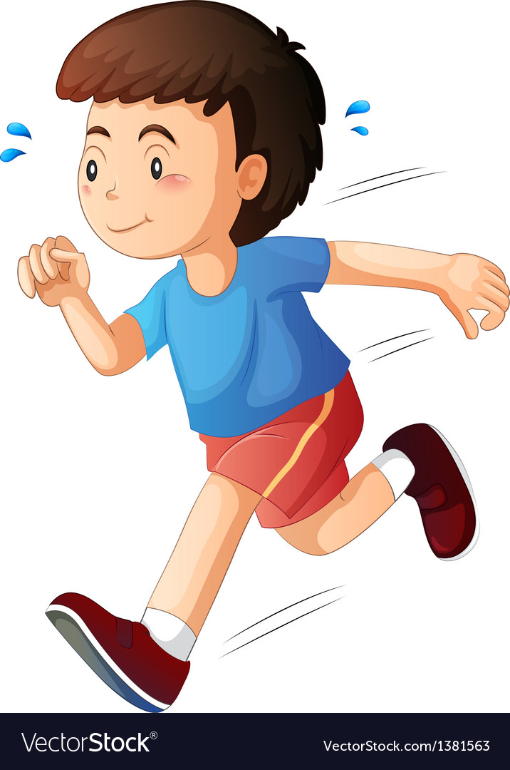 A kid running vector | Price: 1 Credit (USD $1)