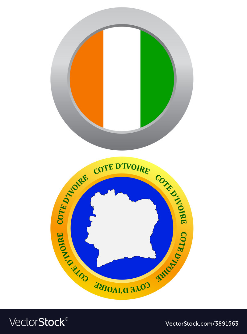 Button as a symbol cote divoire vector | Price: 1 Credit (USD $1)