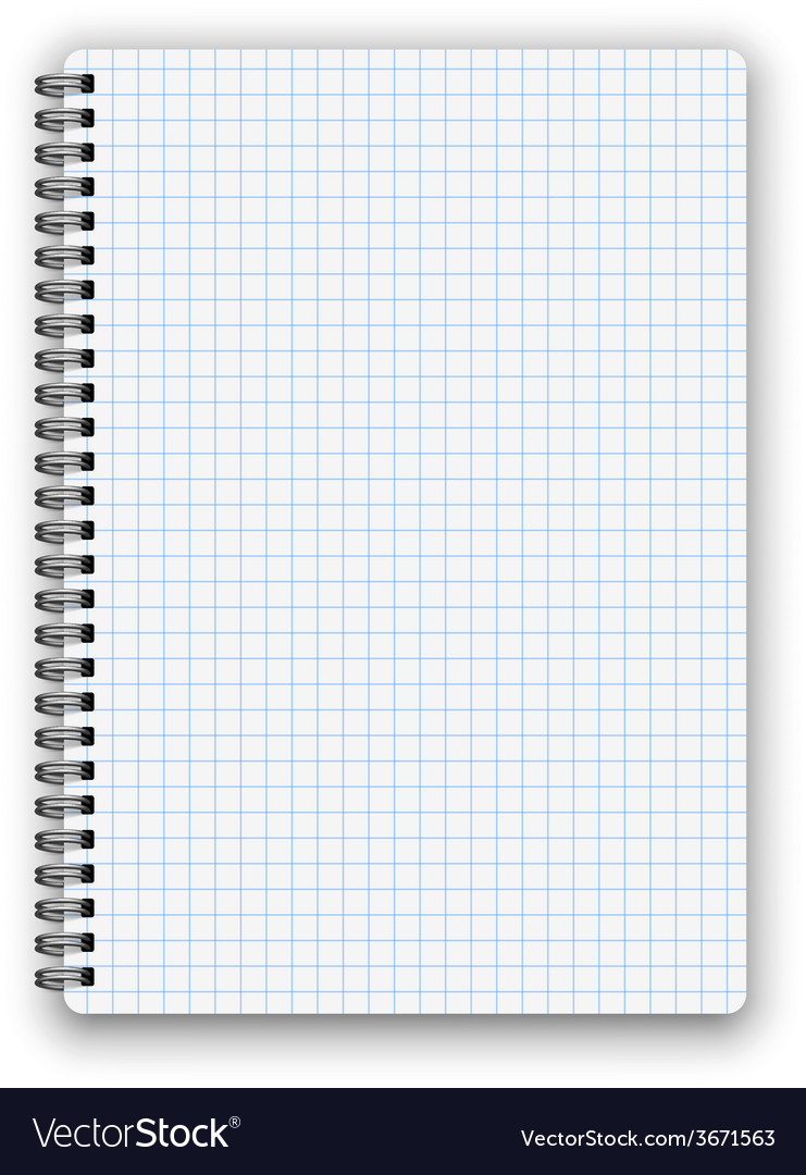 Cheked notebook vector | Price: 1 Credit (USD $1)