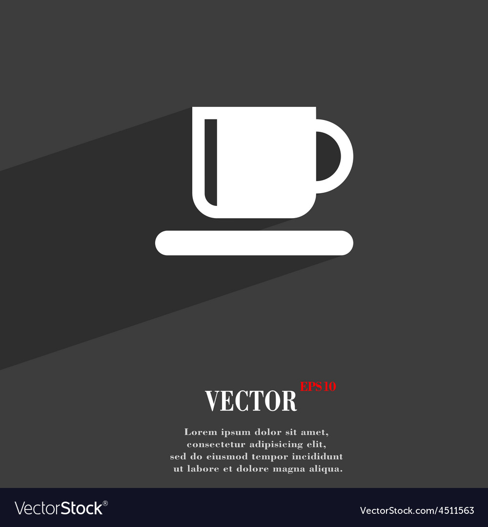 Coffee cup icon symbol flat modern web design with vector | Price: 1 Credit (USD $1)