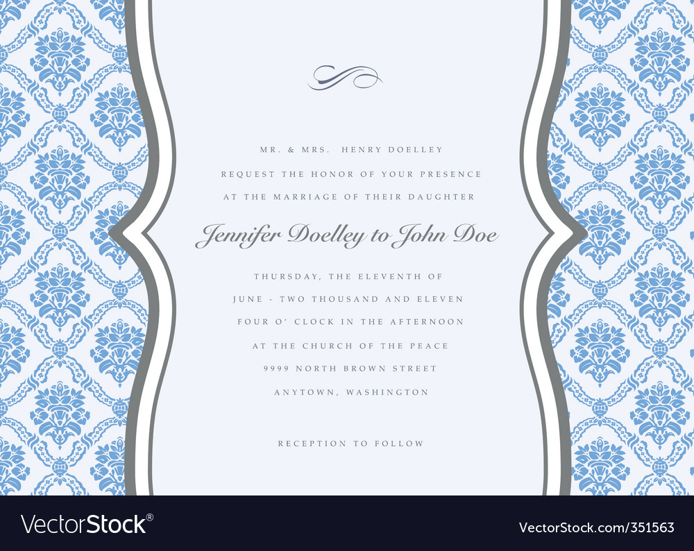 Damask template vector
