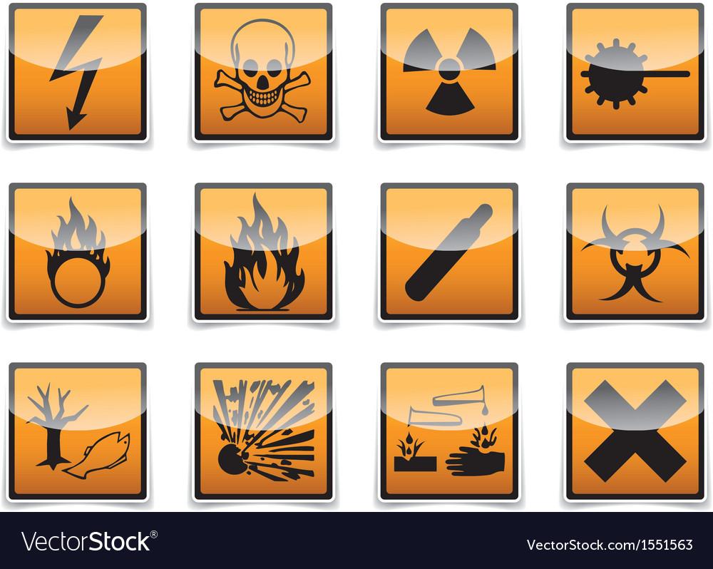 Danger symbols icon vector | Price: 1 Credit (USD $1)
