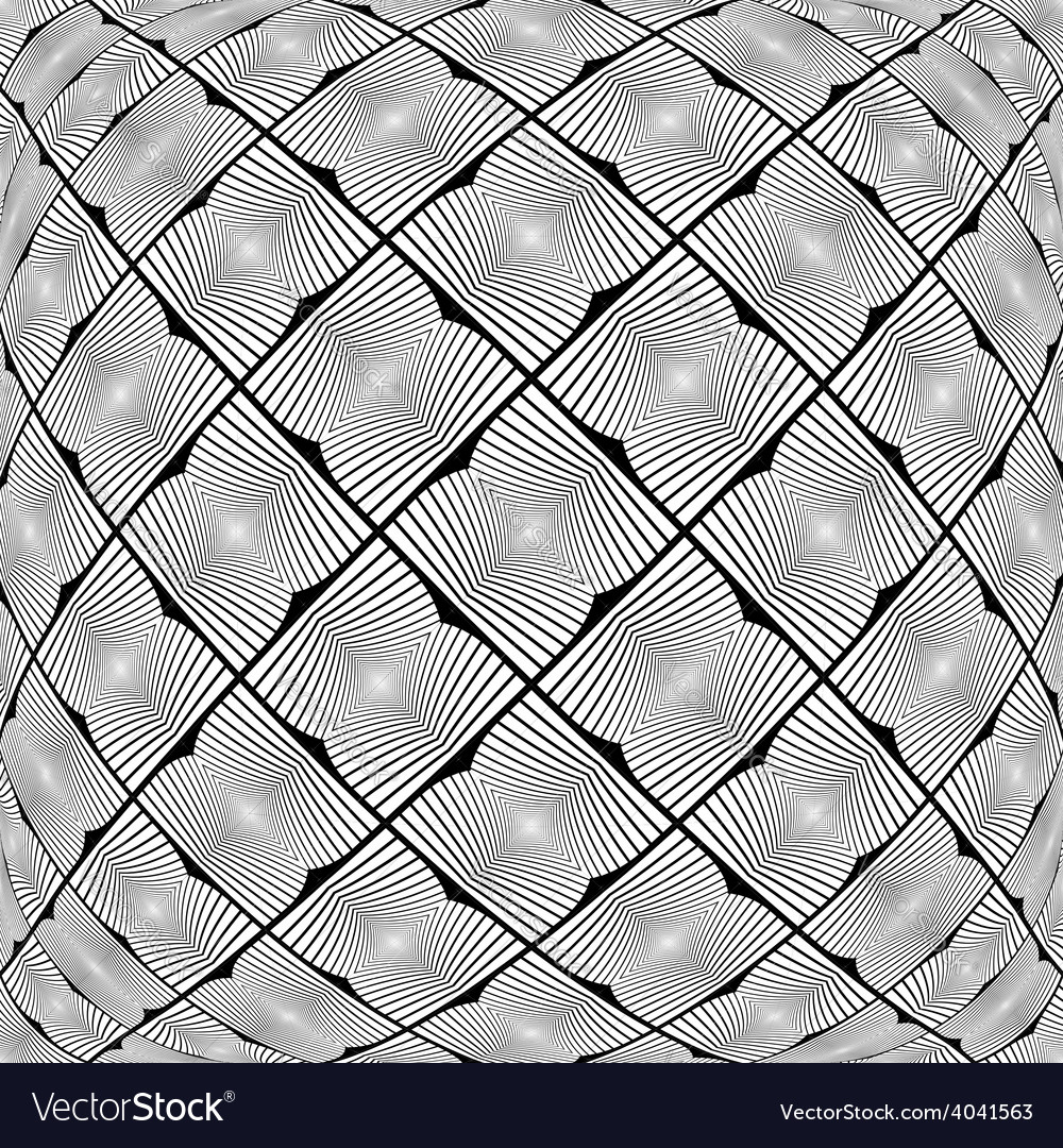 Design warped monochrome geometric pattern vector | Price: 1 Credit (USD $1)
