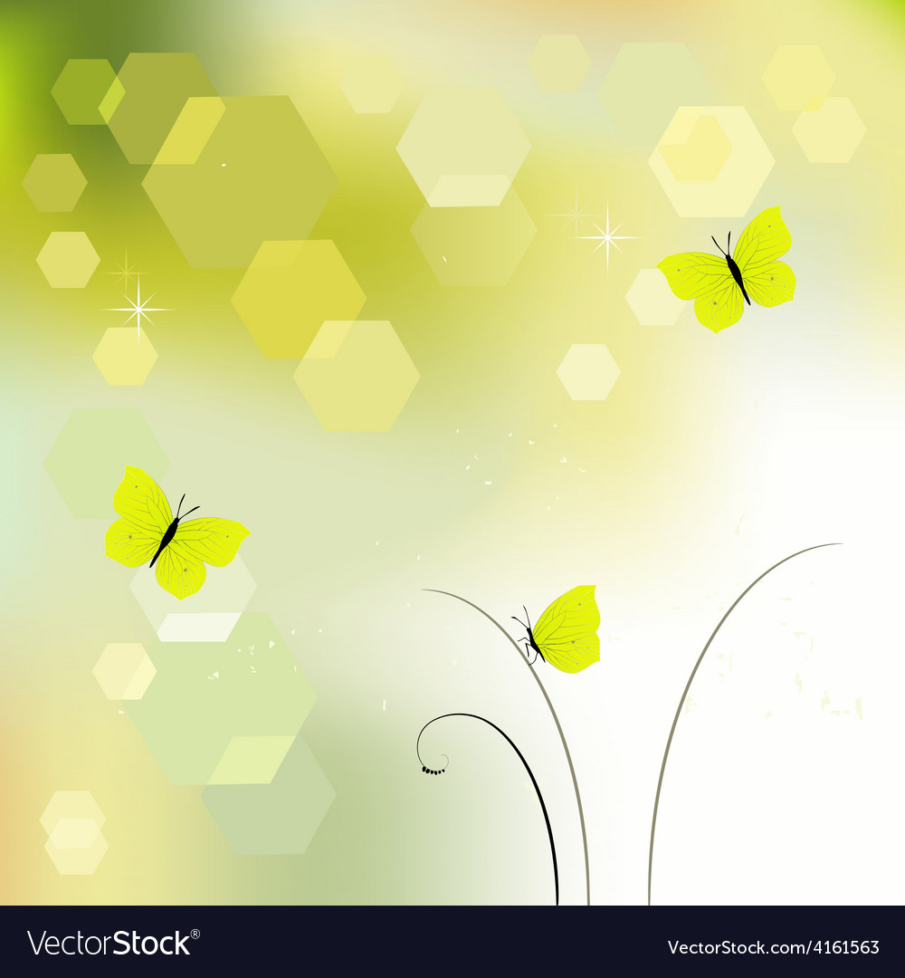 Desktop wallpaper background with butterflies vector | Price: 1 Credit (USD $1)