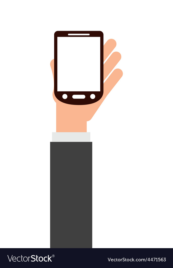 Device in the hand vector