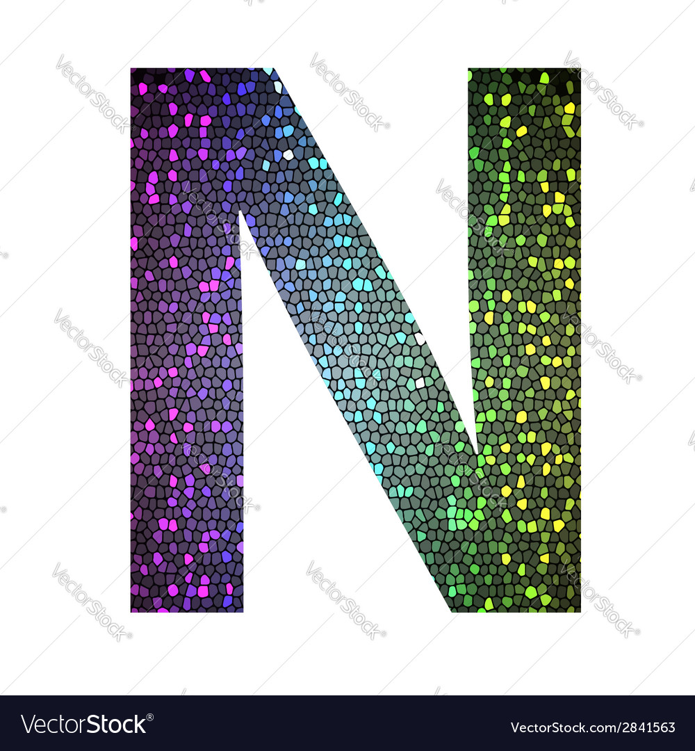 Letter n vector | Price: 1 Credit (USD $1)